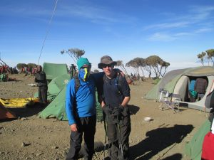 Camping, scarves prevent volcanic dust