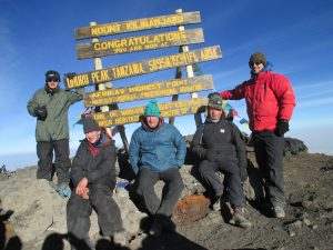 The Summit, James, Kyle, Hamish, John and Mark all made it!